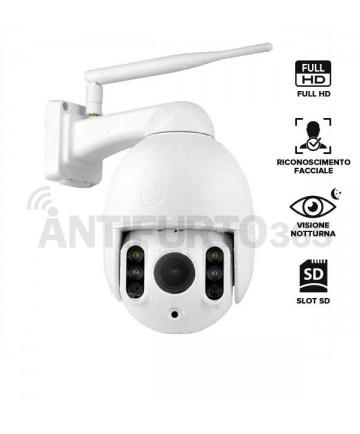 Telecamera IP senza fili da esterno CAM-Y, FULL HD 5.0, visione notturna 50mt, motorizzata 355° frontale