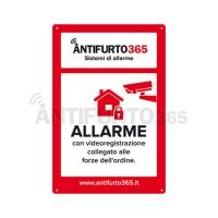 Cartello dissuasore allarme antifurto it - Antifurto casa 365 ...