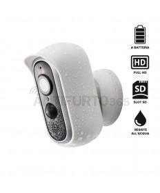 Telecamera IP 100% senza fili BAT-PRO a batteria, FULL HD, visione notturna, da ESTERNO