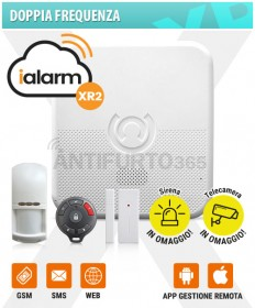 Kit iALARM XR2, Doppia Frequenza WIFI INTERNET+gsm+sms