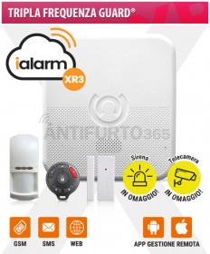 Kit iALARM XR3, Tripla Frequenza Guard® WIFI INTERNET+gsm+sms