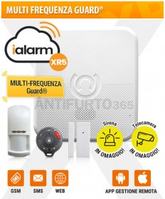 Kit iALARM XR5, Multi Frequenza Guard® WIFI INTERNET+gsm+sms